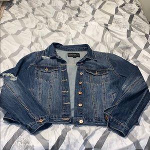 Forever 21+ Distressed Denim Jacket